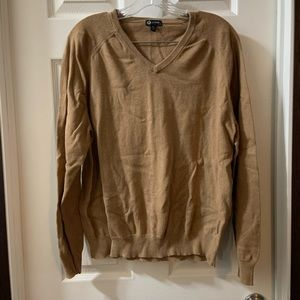 J.Crew Men's Brown V Neck Cashmere Blend Sweater